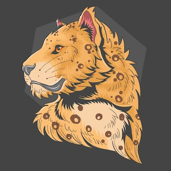 Vector de cabeza de leopardo
