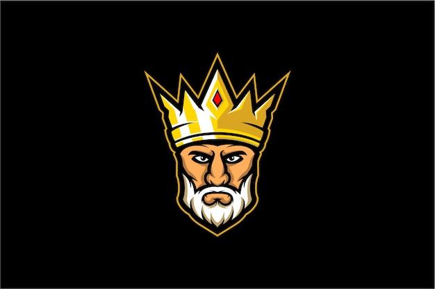 Vector de cabeza de rey
