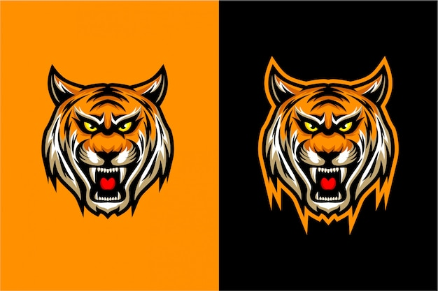 Vector de la cabeza del tigre