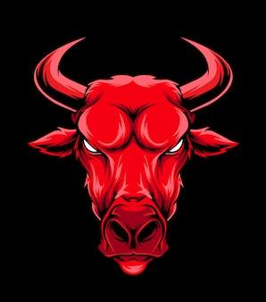 Vector cabeza de toro