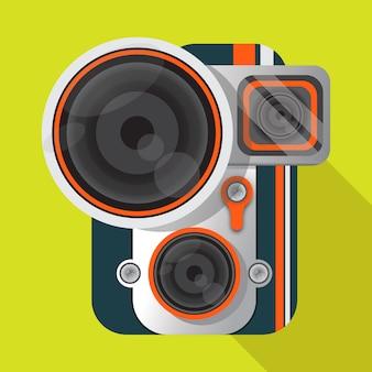 Vector cámara vintage