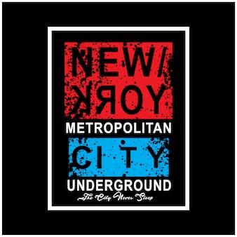 Vector de camiseta de tipografía de la ciudad de nueva york