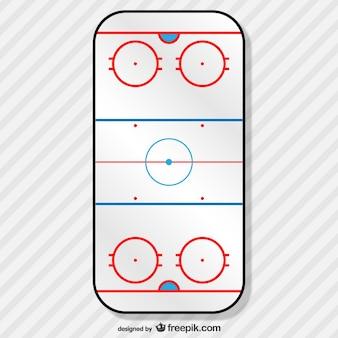 Vector campo de hockey