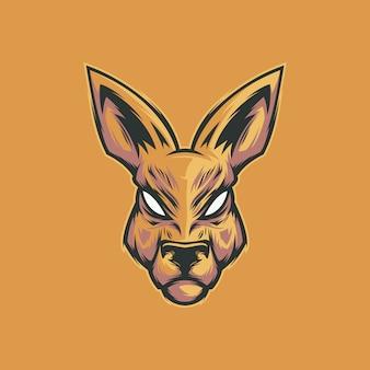 Vector de cara de canguro