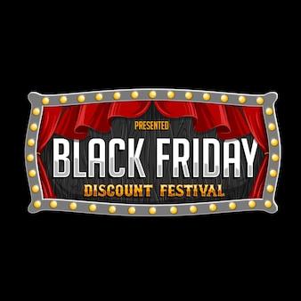 Vector de cartel de carnaval para evento de viernes negro