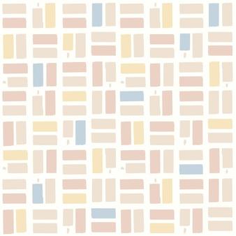 Vector cepillo de pintura motivo de verificación patrón de repetición sin fisuras decoración del hogar impresión moda tela archivo digital