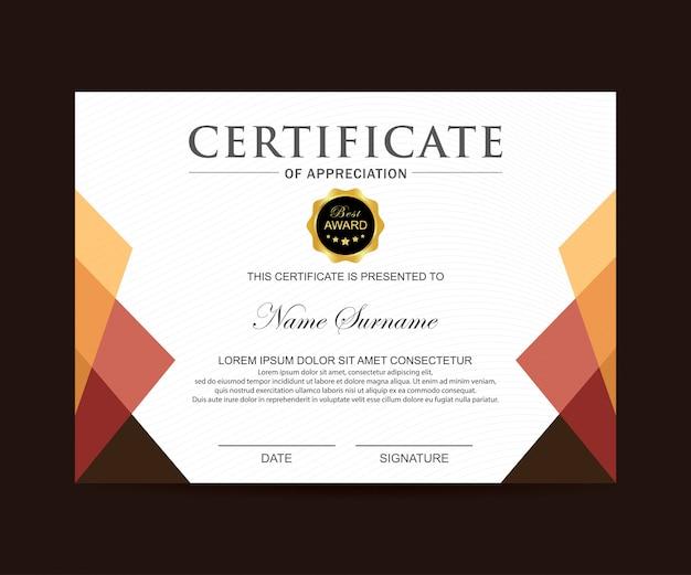 Vector de certificado moderno