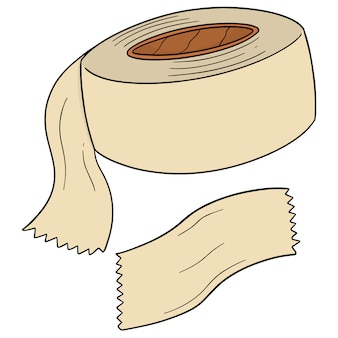 Vector de cinta adhesiva.