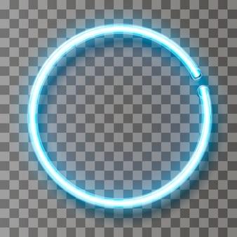 Vector círculo de línea de luz de neón en movimiento