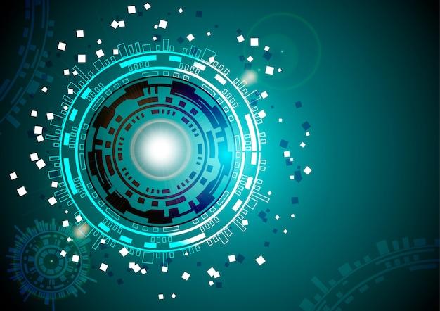 Vector círculo tecnología con varios tecnológicos