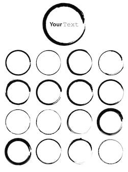 Vector de círculos grunge