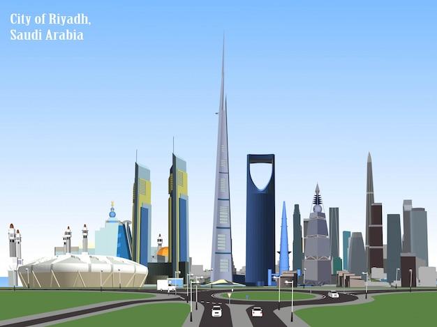 Vector de la ciudad de riad, arabia saudita