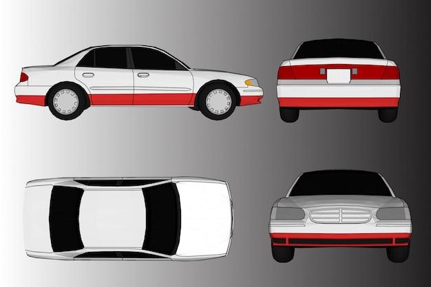 Vector de coche 3d