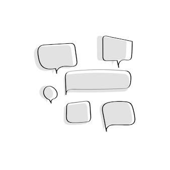 Vector de colección de burbujas de discurso
