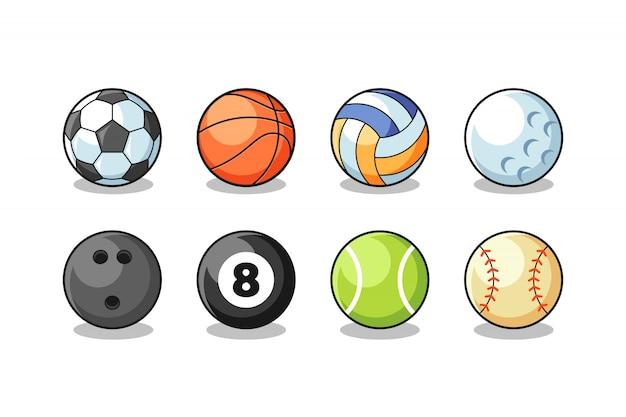 Vector de colección de pelotas de deporte