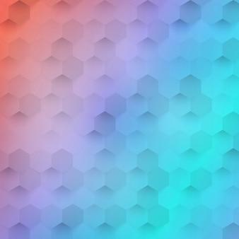 Vector de color abstracto 3d hexagonal.