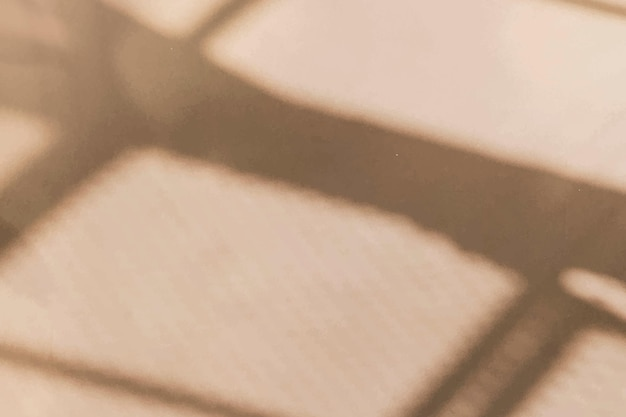 Vector de color beige de sombra de ventana estética sobre fondo de textura