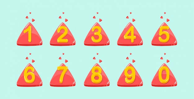 Vector colorido colección de números