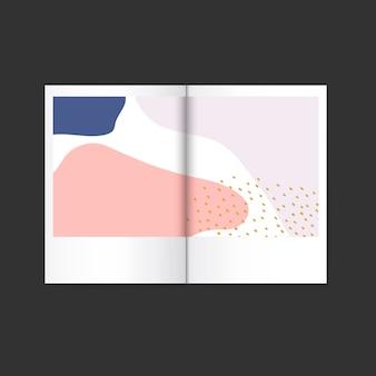 Vector colorido de la revista de diseño de memphis