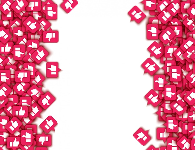 Vector como pulgares arriba patrón de botones web de iconos