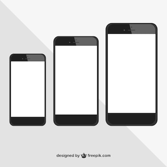 Vector de comparación de iphones