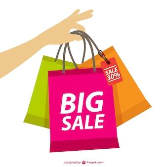 Vector de compras y rebajas