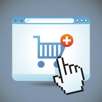 Vector concepto de compras por internet
