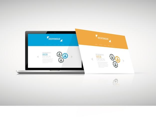 Vector de concepto de diseño web moderno sensible