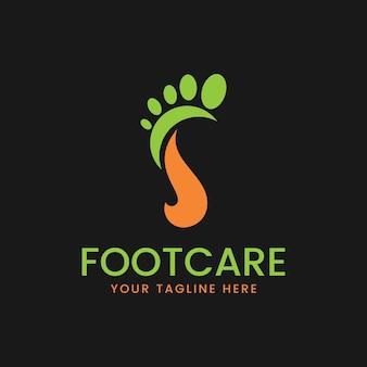 Vector de concepto de diseños de logotipo de cuidado de los pies, plantilla de logotipo de pie icónico