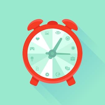 Vector concepto plano - gestión del tiempo