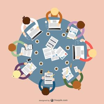 Vector de concepto de trabajo en equipo
