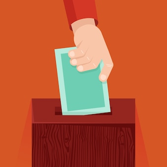Vector concepto de votación en estilo plano