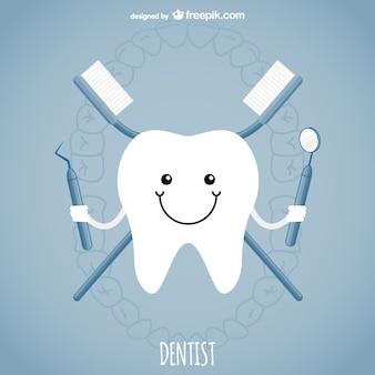 Vector conceptual de dentista