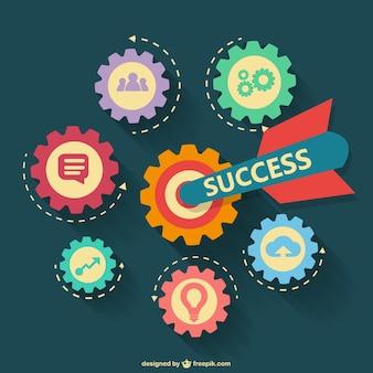 Vector conceptual de éxito