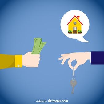 Vector conceptual de inmobiliarias