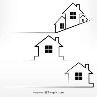 Vector conceptual de viviendas