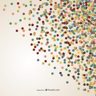 Vector de confeti colorido