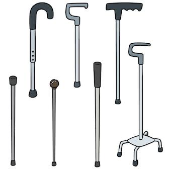 Vector conjunto de bastón