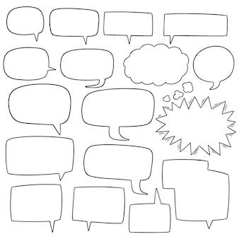 Vector conjunto de burbujas de discurso