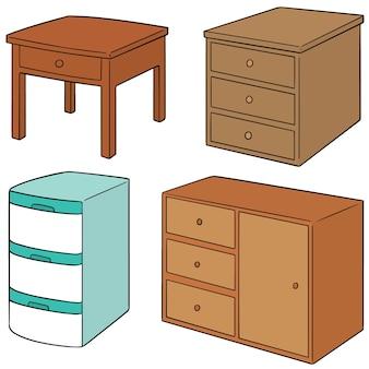 Vector conjunto de cajón