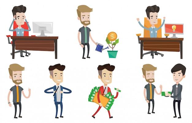 Vector conjunto de caracteres de negocios