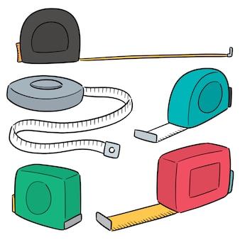 Vector conjunto de cinta métrica