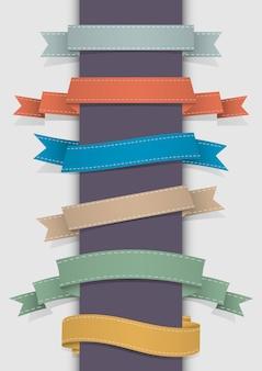 Vector conjunto de cintas retro