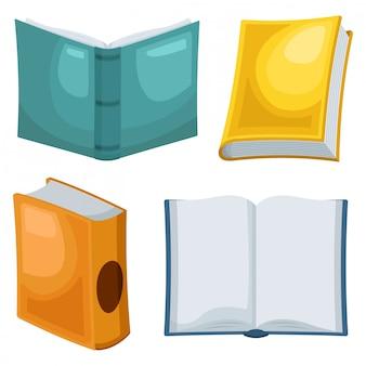 Vector conjunto de colección de libros