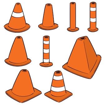 Vector conjunto de cono de tráfico
