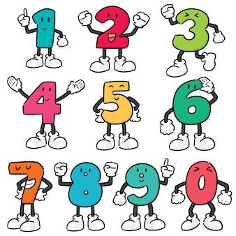 Vector conjunto de dibujos animados número