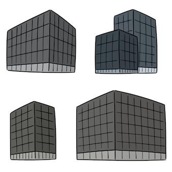 Vector conjunto de edificio