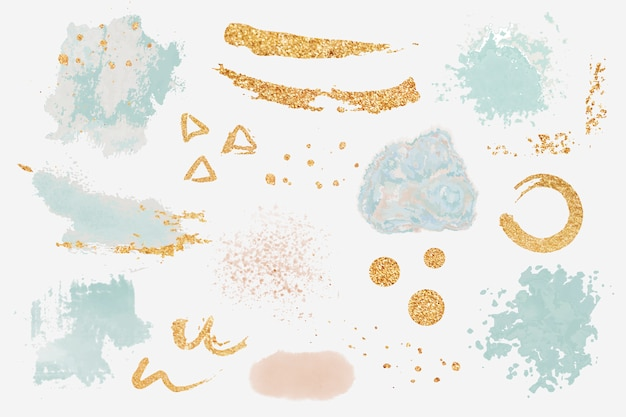 Vector de conjunto de elementos de diseño de salpicadura de pintura