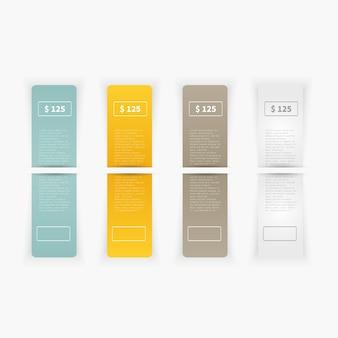Vector conjunto de etiquetas de rectángulo en blanco