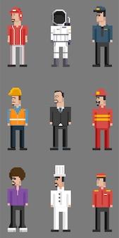 Vector conjunto de hombres y profesiones.